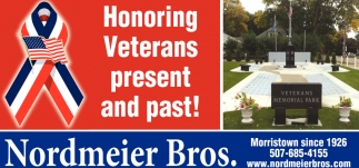 Honoring Veterans present and past!