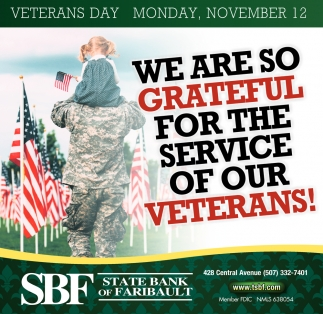 We are so Grateful for the Service of Our Veterans!