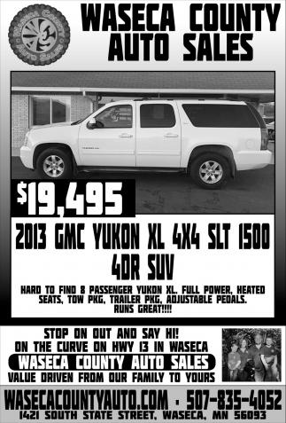 $19,495 2013 GMC Yukon XL 4x4 SLT 1500