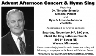 Advent Afternoon Concert & Hymm Sing