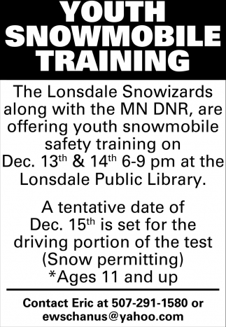 Youth Snowmobile Training