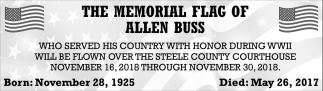 Memorial Flag of Allen Buss