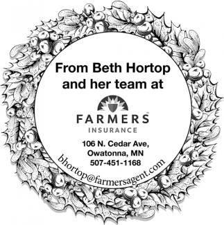 From Beth Hortop and her team at Farmers