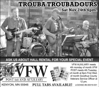 Trouba Troubadours - Nov 24th