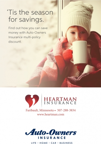 'Tis the season for savings, Heartman Insurance - Faribault, Faribault, MN