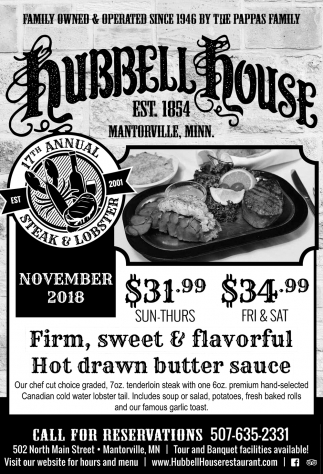 17th Annual Steak & Lobster - November 2018