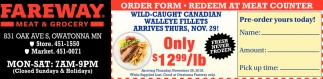 Order Form - Redeem at Meat Counter