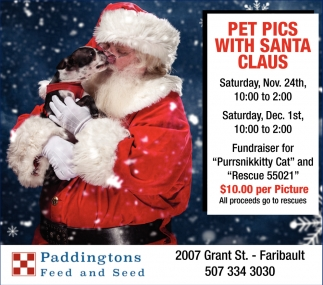 Pet pics with Santa Claus