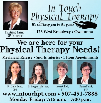 We are here for your Physical Therapy Needs!