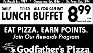all can you eat lunch buffet 8 99 godfather s pizza faribault mn rh marketplace southernminn com