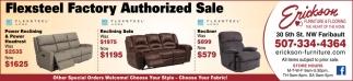 Flexsteel Factory Authorized Sale