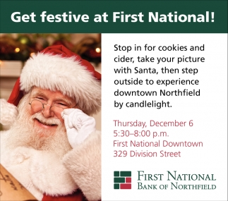 Get festive at First National!