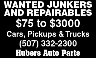 WANTED JUNKERS AND REPAIRABLES
