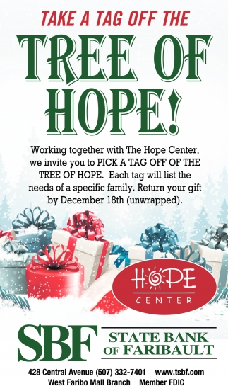 Take a Tag OFF the Tree of Hope