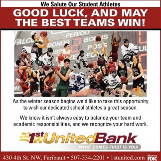 Good luck, and may the best teams win!