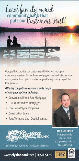 Offering competitive rates in a wide range of mortgage options