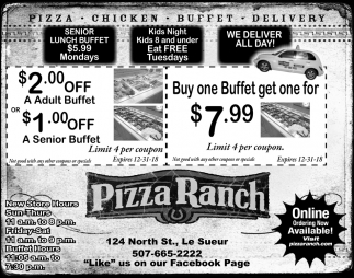 Pizza -Chicken -Buffet - Delivery