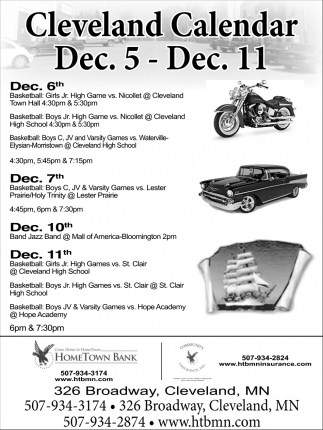 Cleveland Calendar, Dec 5