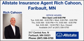 Agent in Faribault, Allstate Insurance - Rich Cahoon