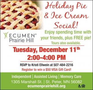Holiday Pie & Ice Cream Social!
