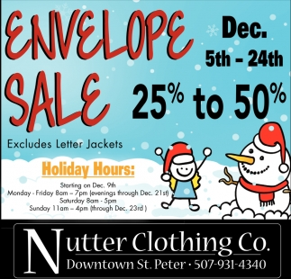 Envelope Sale