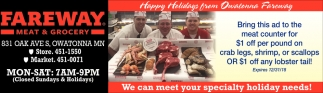 Happy Holidays from Owatonna Fareway