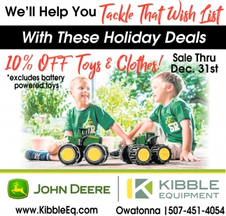 We'll Help You Tackle That Wish List, Kibble Equipment - Owatonna, Owatonna, MN