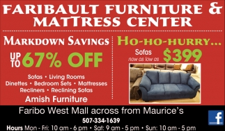Markdown Savings / Ho-ho Hurry