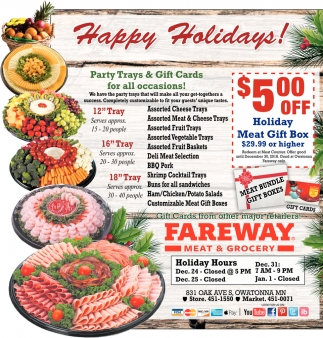 Happy Holidays Fareway Meat Grocery Owatonna Owatonna Mn