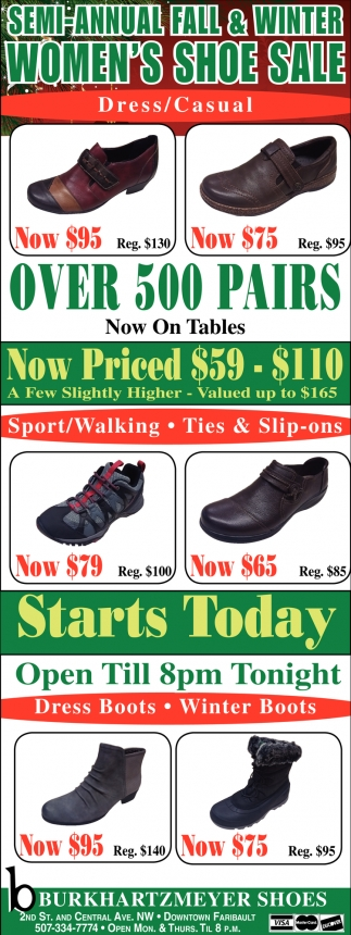 Semi-Annual Fall & Winter Women's Shoe Sale