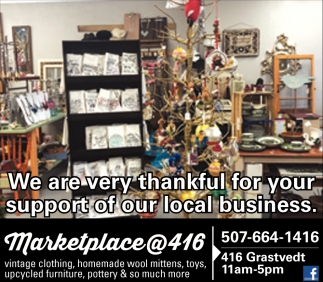 We Are Very Thankful For Your Support of Our Local Business