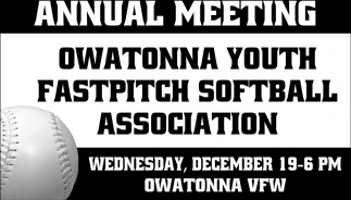 Annual Meeting, Owatonna Youth Fastpitch Softball Association