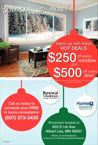Hot Deals, Home Solutions Midwest, Albert Lea, MN