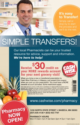 WASECA PHARMACY OPEN