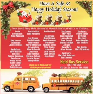 Have a Safe & Happy Holiday Season!