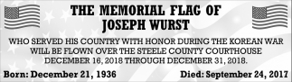 The Memorial Flag of Joseph Wurst