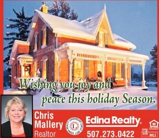 Wishing you joy and peace this holiday season