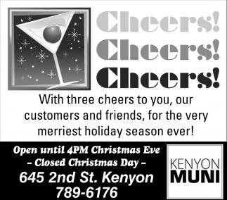 Cheers! Cheers! Cheers!