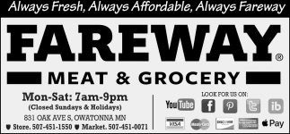 Always Fresh, Always Affordable, Always Fareway