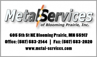 Metal Services, Metal Services of Blooming Prairie, Blooming Prairie, MN