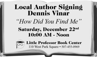 Local Author Signing Dennis Vinar