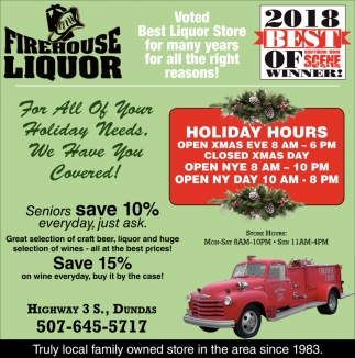 Voted Best Liquor Store for many years