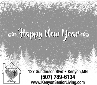 Happy New Year, Kenyon Senior Living, Kenyon, MN
