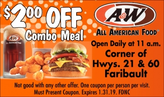 $2.00 Off Combo Meal