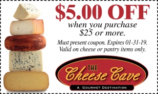 Coupon, The Cheese Cave, Faribault, MN