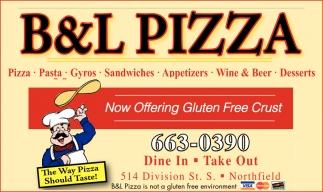 Now Offering Gluten Free Crust