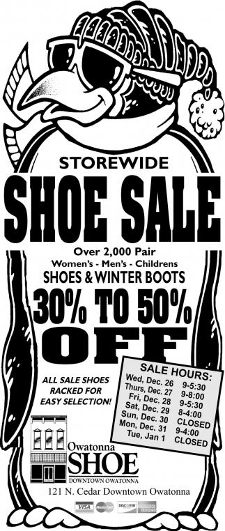Storewide Shoe Sale