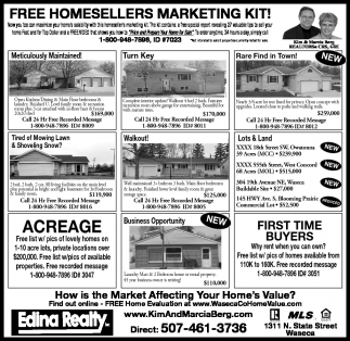 FREE HOMESELLERS MARKETING KIT!