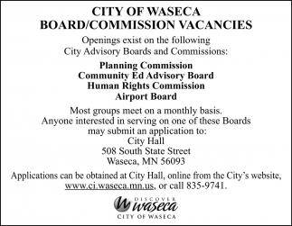 Board/Commission Vacancies