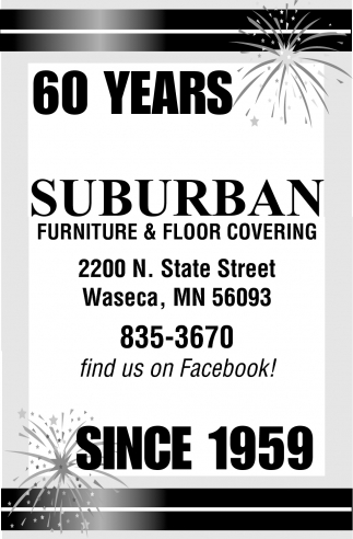 60 Years Suburban Furniture Floor Covering Waseca Mn